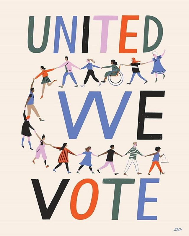 if you don't do anything else today, we ask that you please make time to exercise your right and VOTE!! your vote is your voice! #vote #midtermsmatter #yourvoteisyourvoice #unitedwevote // 👩‍🎨🎨 by the talented @libbyvanderploeg