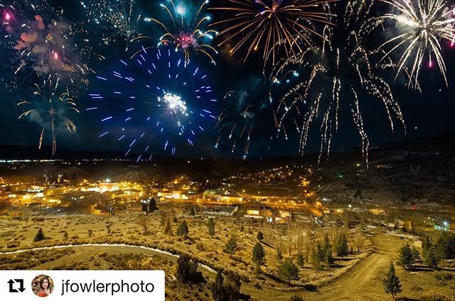 Repost of this extraordinary composite photo taken by @jfowlerphoto on top of our #hillhouse project in Ely, NV for this weekend's #fireandicefestival in @visitelynevada