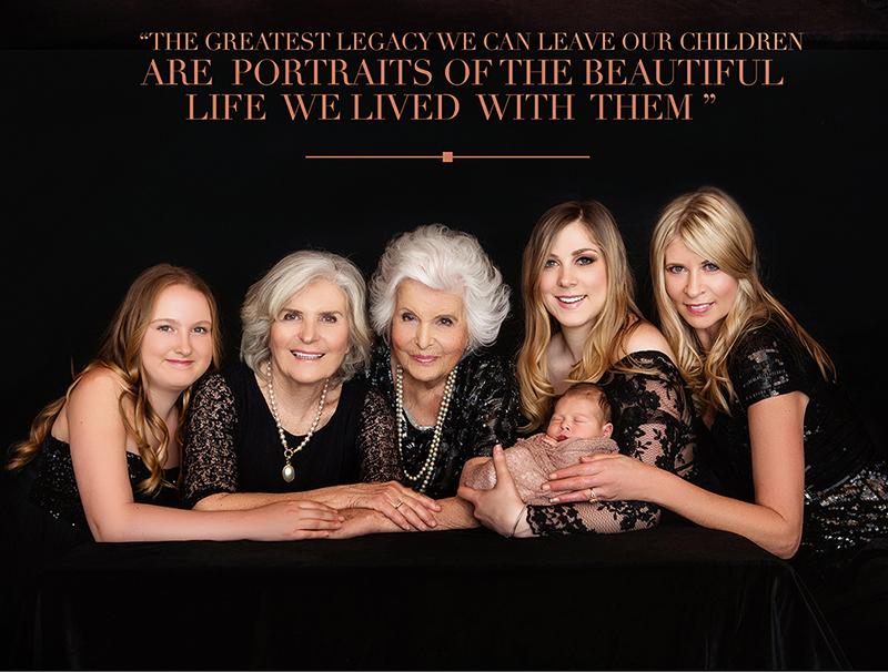 Multi generation photo shoots with Lenka Jones