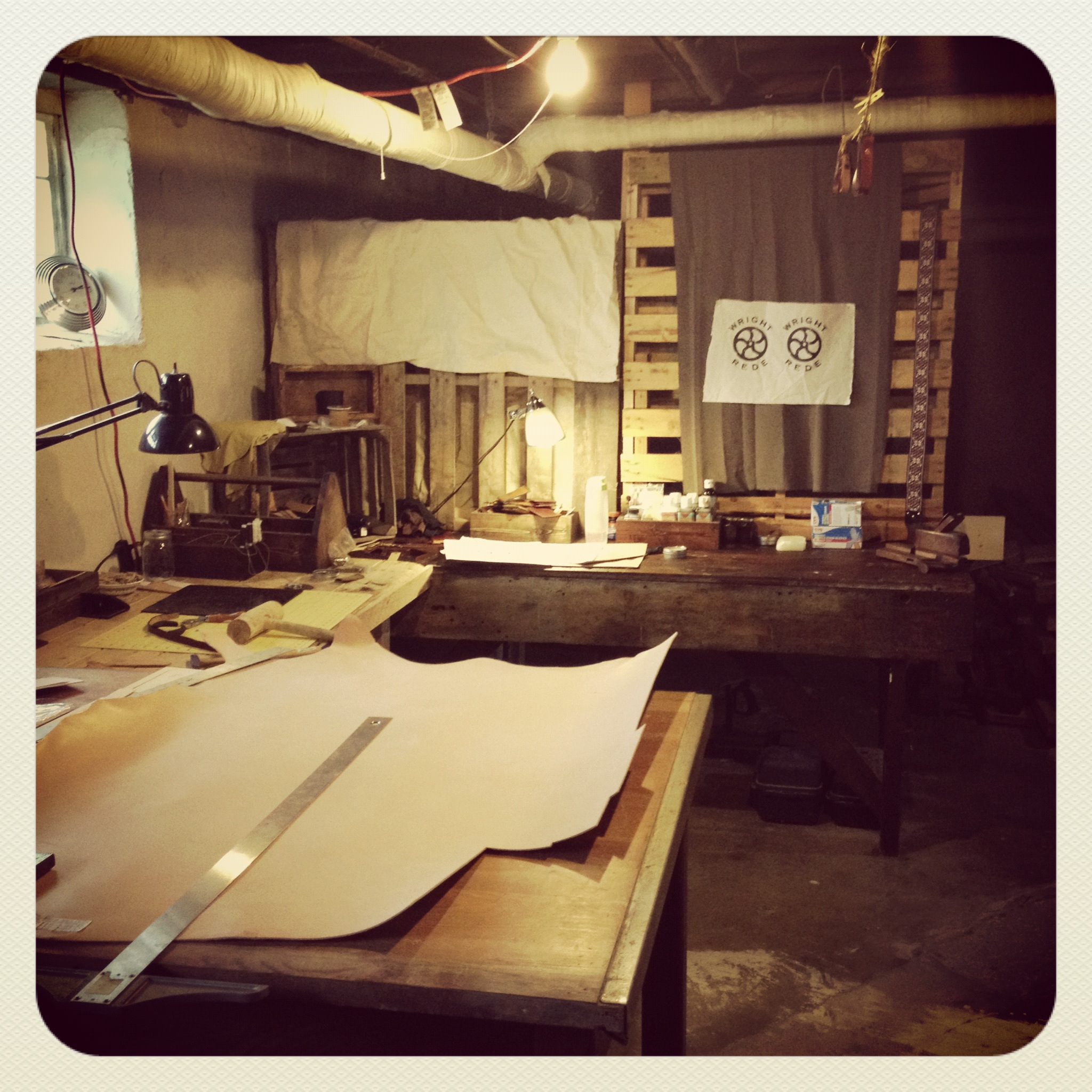 The Wright and Rede basement workshop Circa 2012.