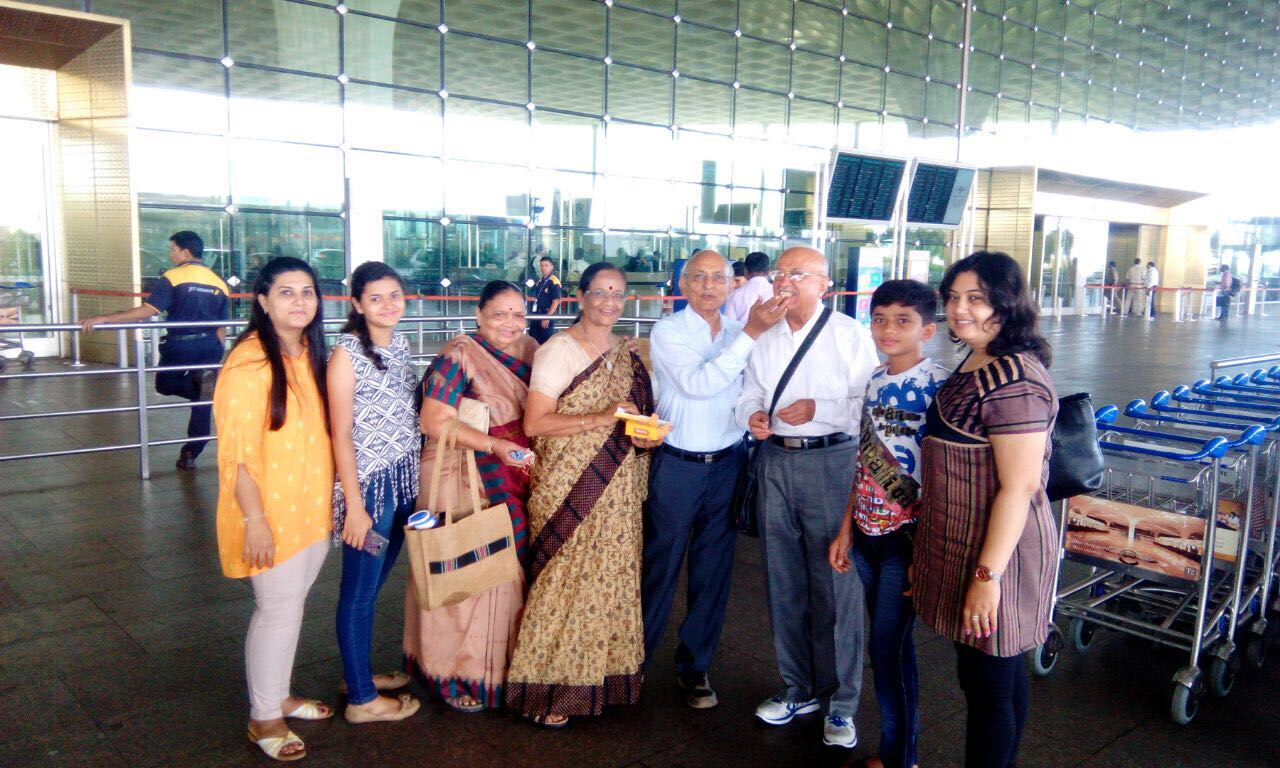 Br. Bhupatbhai departing from Mumbai airport