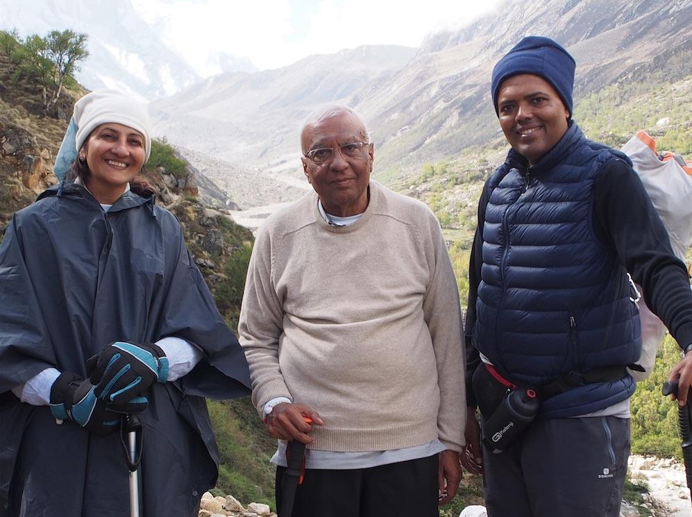 Bhaishree Minalben Vikrambhai trekking at Gaumukh.jpg