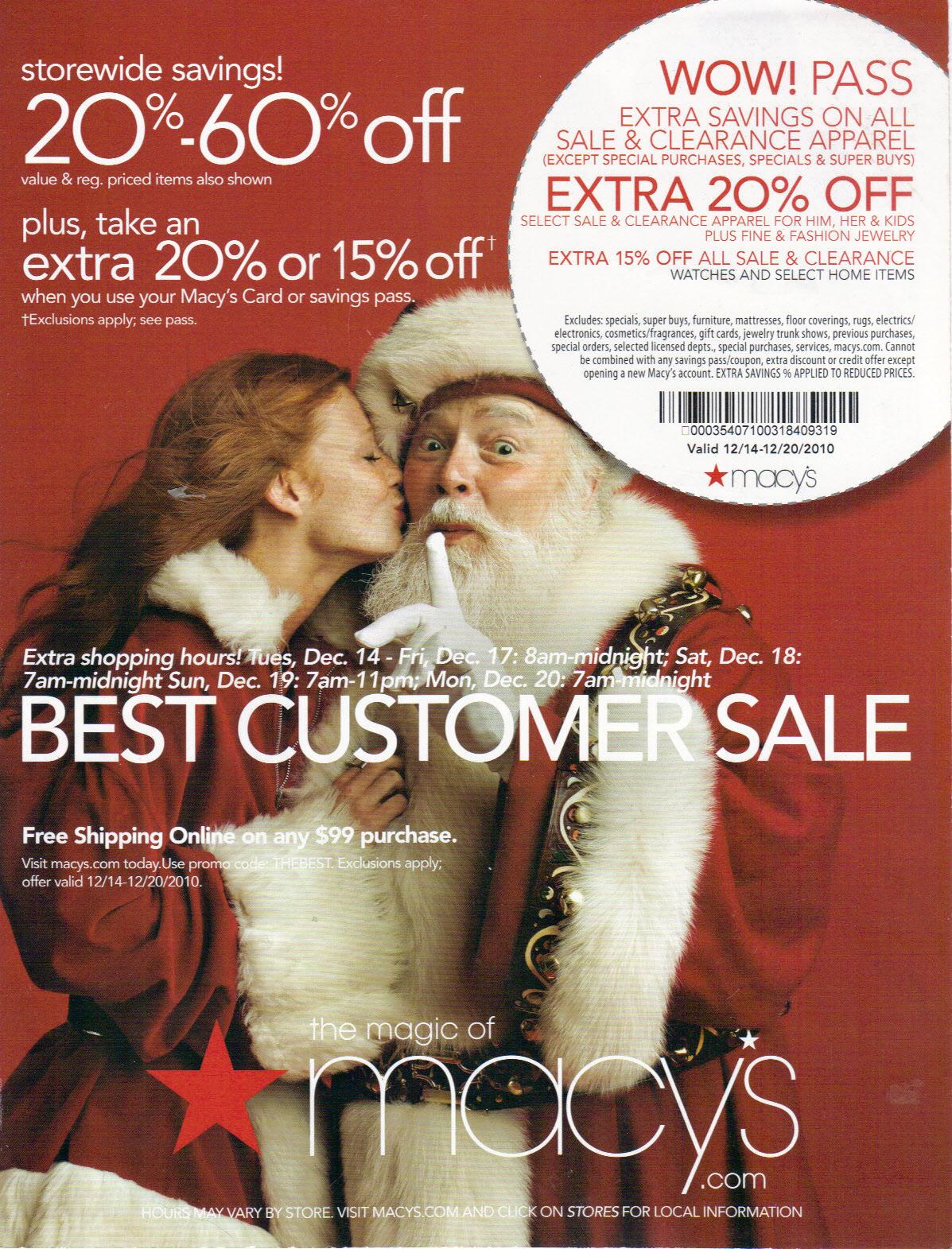 Macy's Santa Claus!
