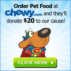Place your first order with Chewy.com and $20 will be donated to Grey Face Rescue. Chewy.com offers FAST and FREE shipping!