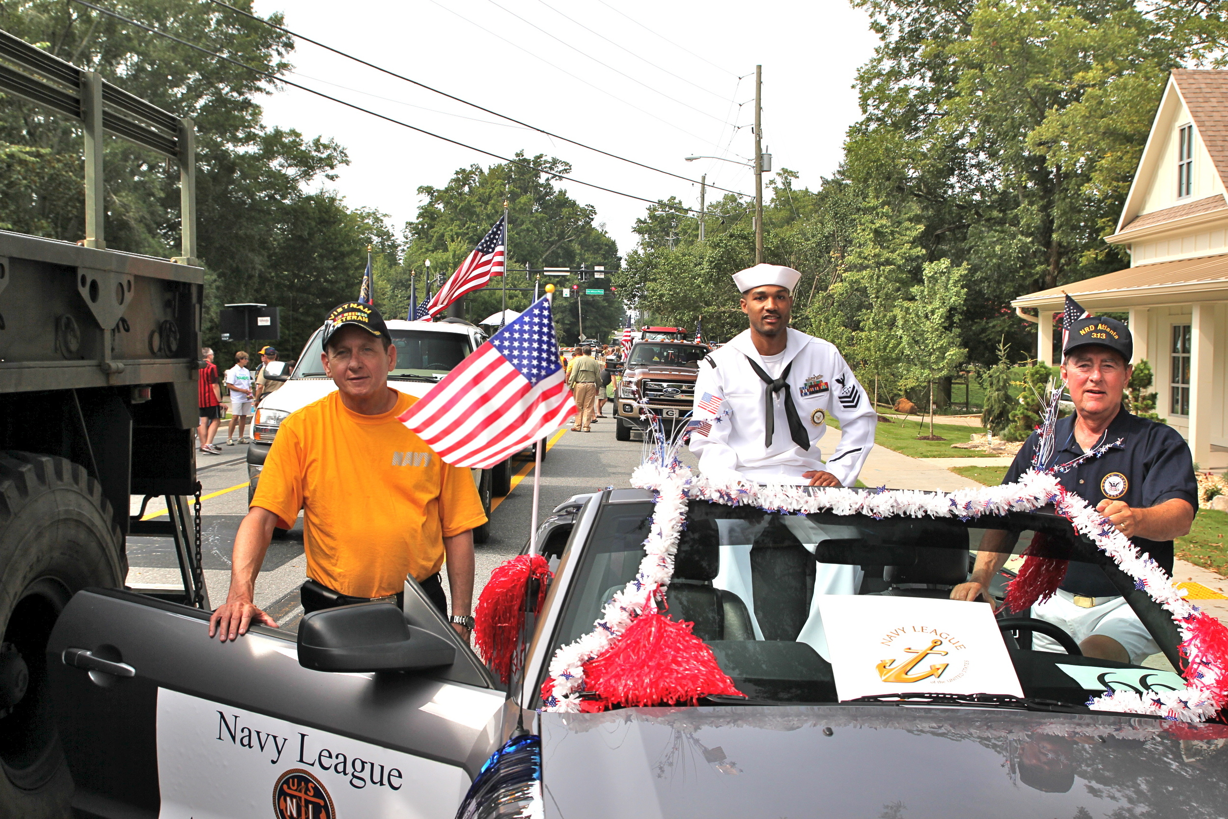 Members participated in the  annual OLD SOLDIERS PARADE PARADE in Alpharetta GA . The council was honored to have 2nd Quarter Sailor of the Quarter, STG1 Rasheed Grant with Navy Recruiting District-Atlanta, one of our sponsored units.