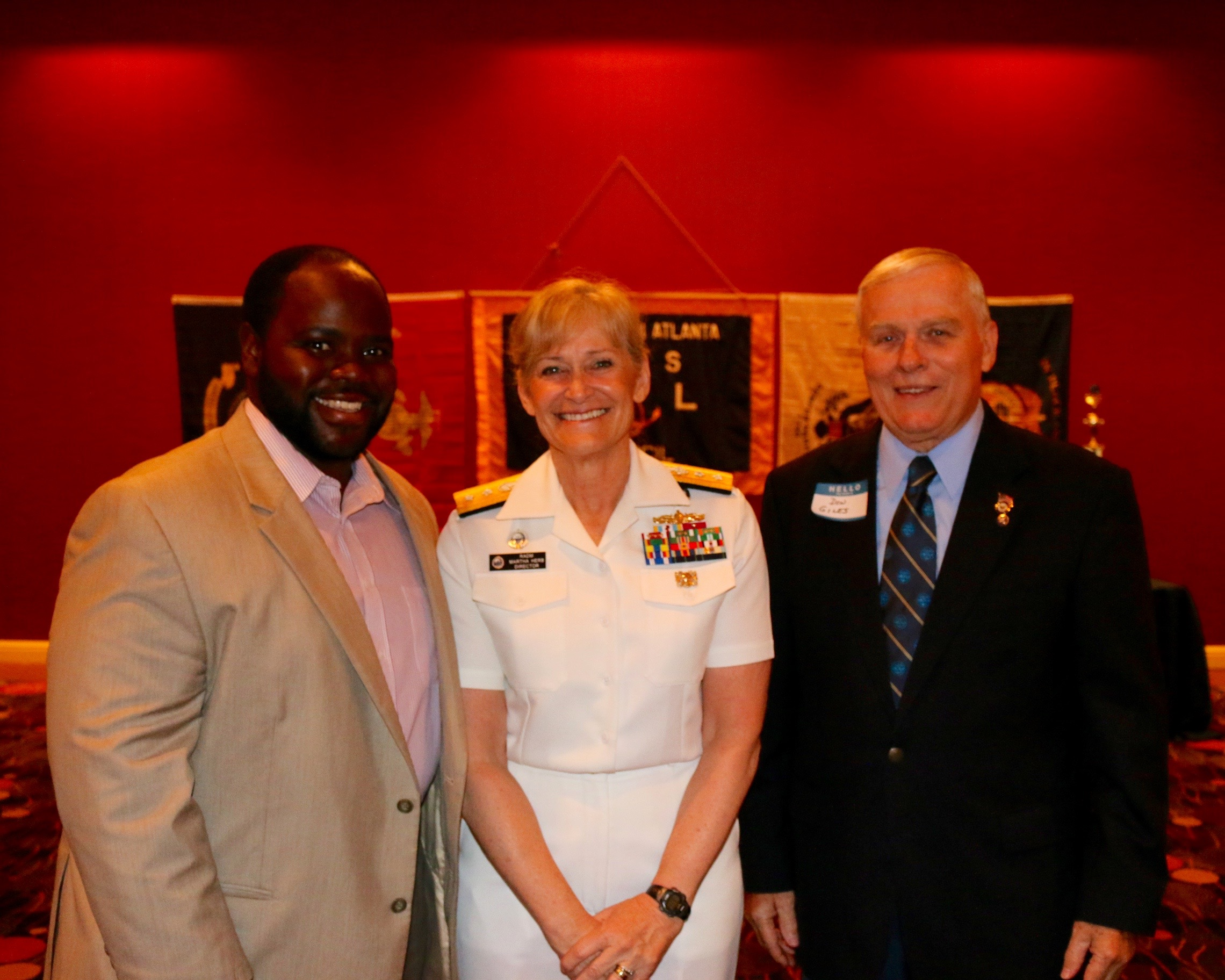 SPECIAL GUEST SINGER TENOR TIMONTHY MILLER, KEYNOTE SPEAKER RADM MARTHA HERB, AND ATLANTA COUNCIL VP OF LEGISLATIVE AFFAIRS DON GILES AT THE COUNCIL'S ANNUAL YOUTH AWARD BANQUET.