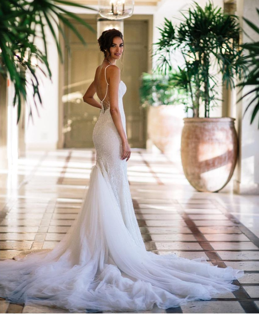 Elite Model, Emina Cunmulaj on her wedding day wearing Galia Lahav.   Photography Courtesy of Emina Cunmulaj's Twitter.