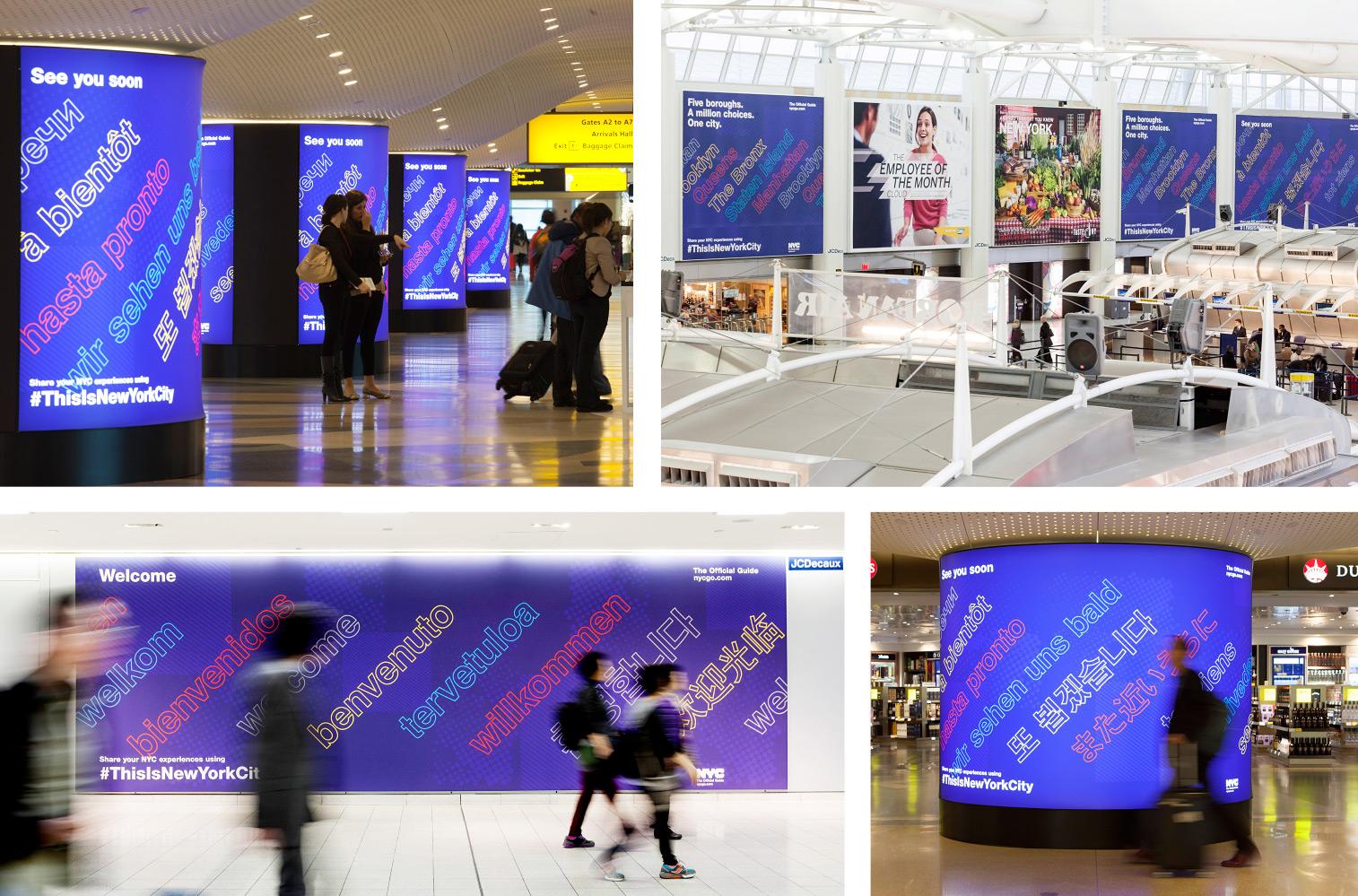 Multi-language graphics at JFK