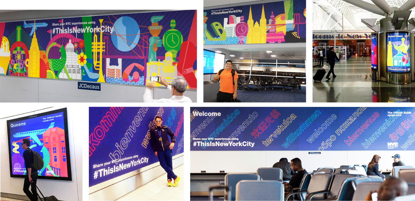 Illustrative 5-borough graphics at jfk (some images from Instagram)