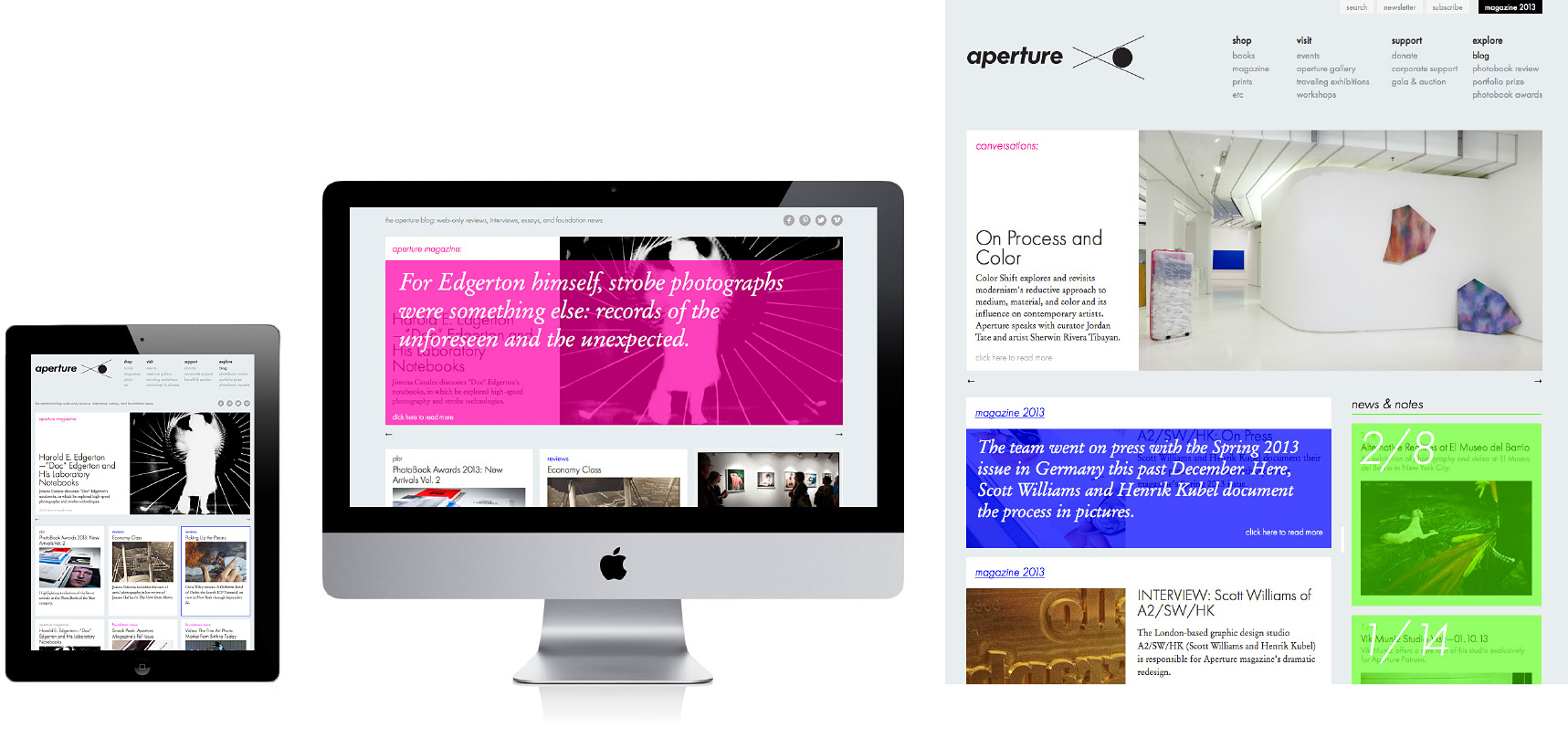 Aperture.org redesign and relaunch