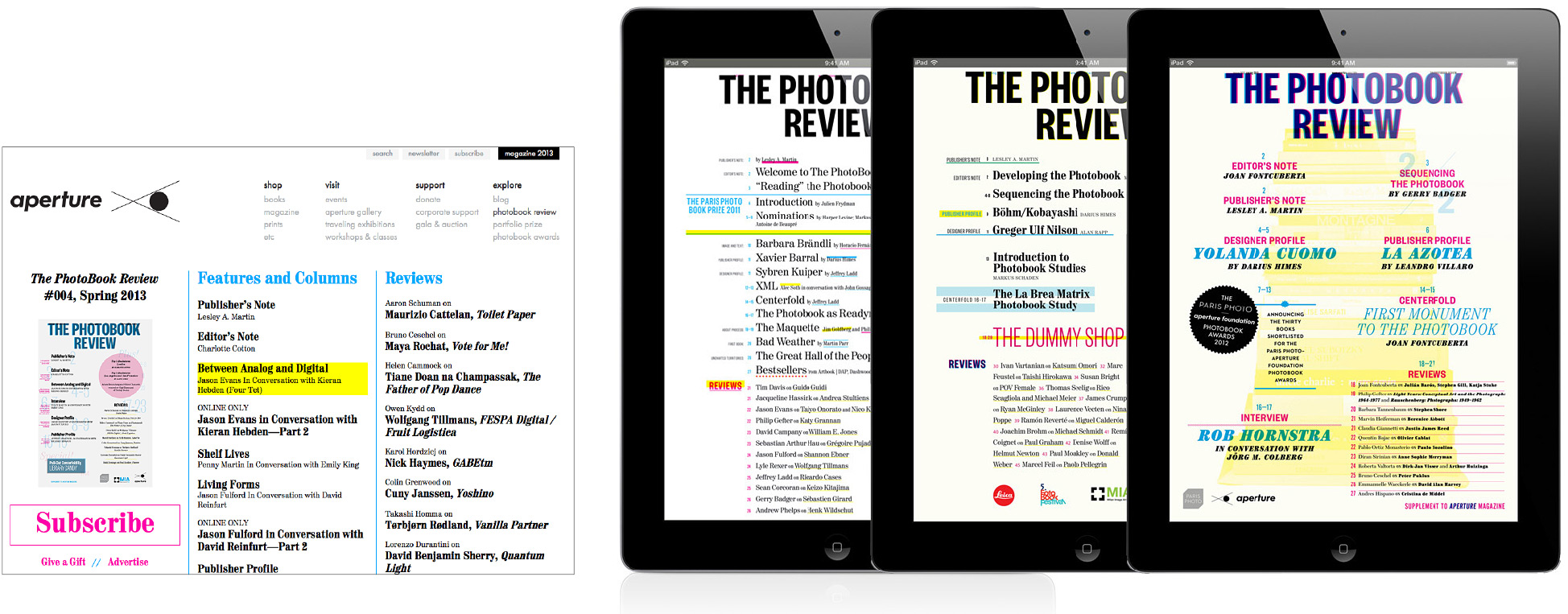 Responsive website and digital editions