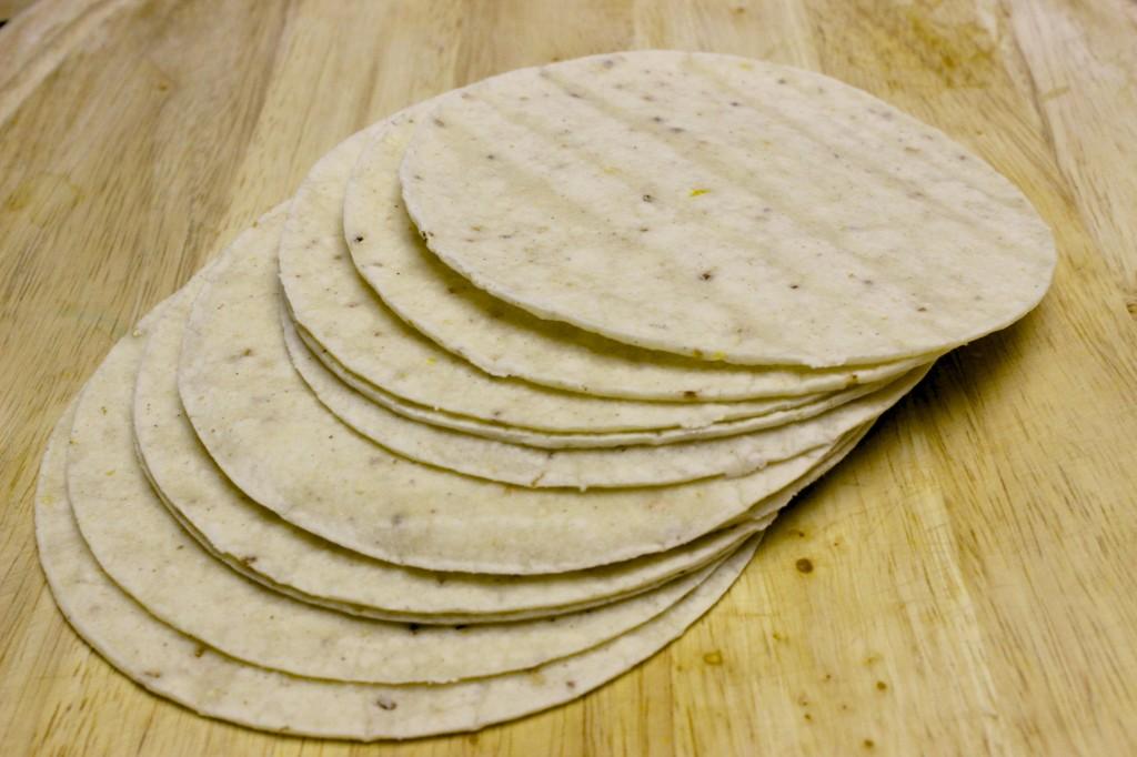 homemade gluten free baked tortilla chips 1