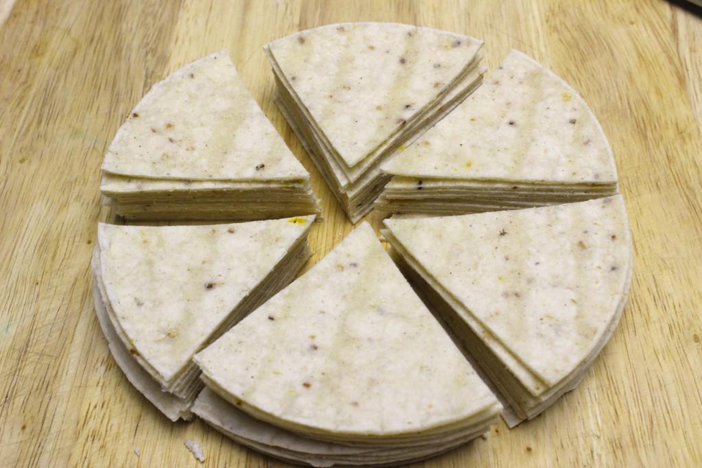 homemade gluten free baked tortilla chips 3