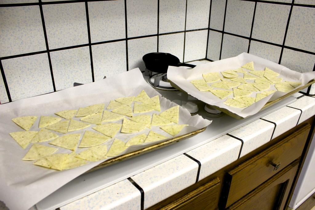 homemade gluten free baked tortilla chips 6