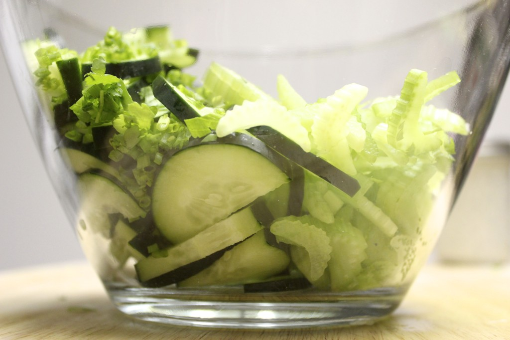 cucumber celery chive salad 10