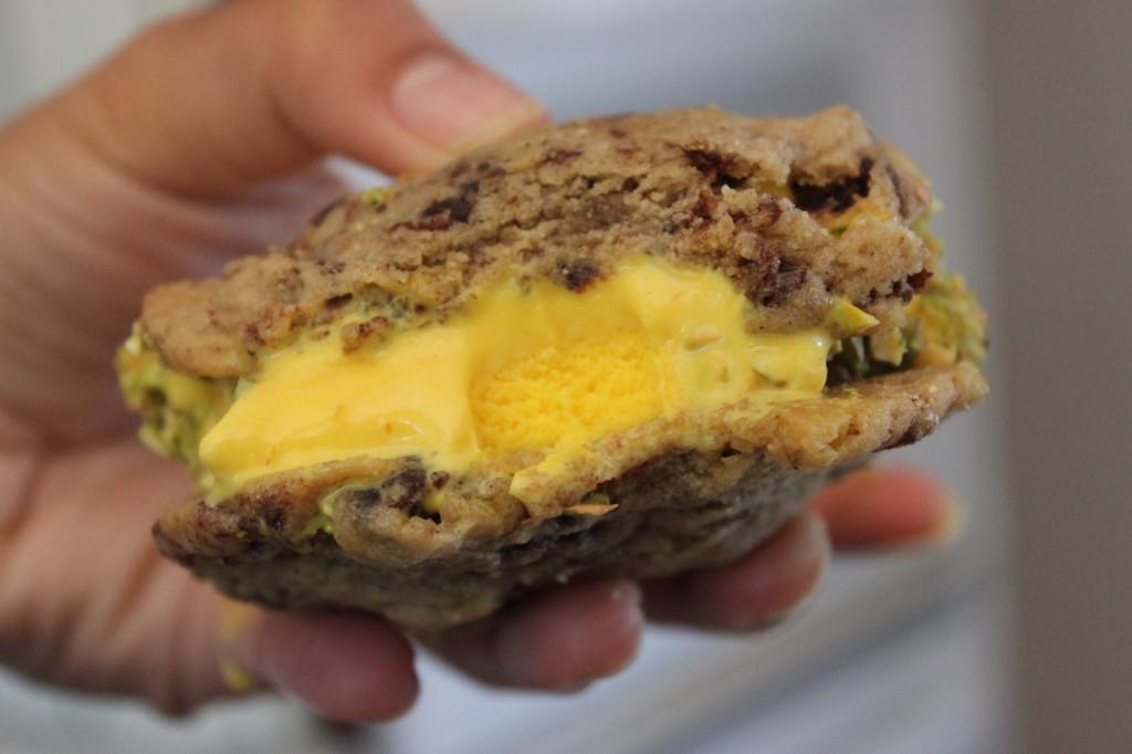 saffron date cardamom ice cream cookie 16