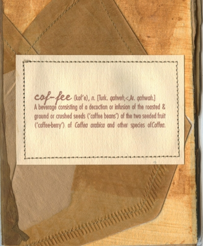 Coffee Book, cover mixed media