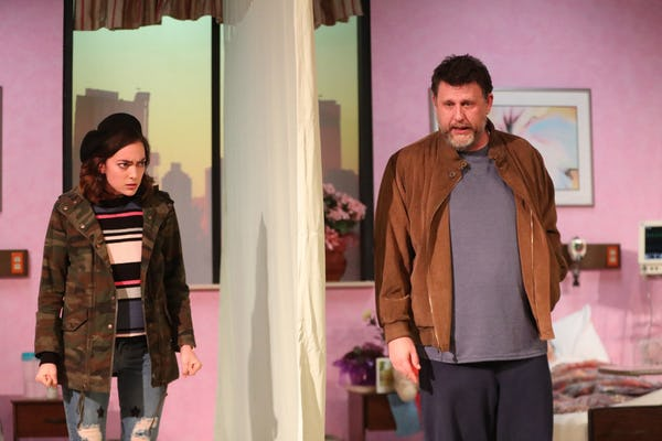 A FUNNY THING HAPPENED ON THE WAY TO THE GYNECOLOGIC ONCOLOGY UNIT AT MEMORIAL SLOAN KETTERING CANCER CENTER OF NEW YORK CITY by Halley Feiffer Stage West Theatre Photographer: Evan Michael Woods