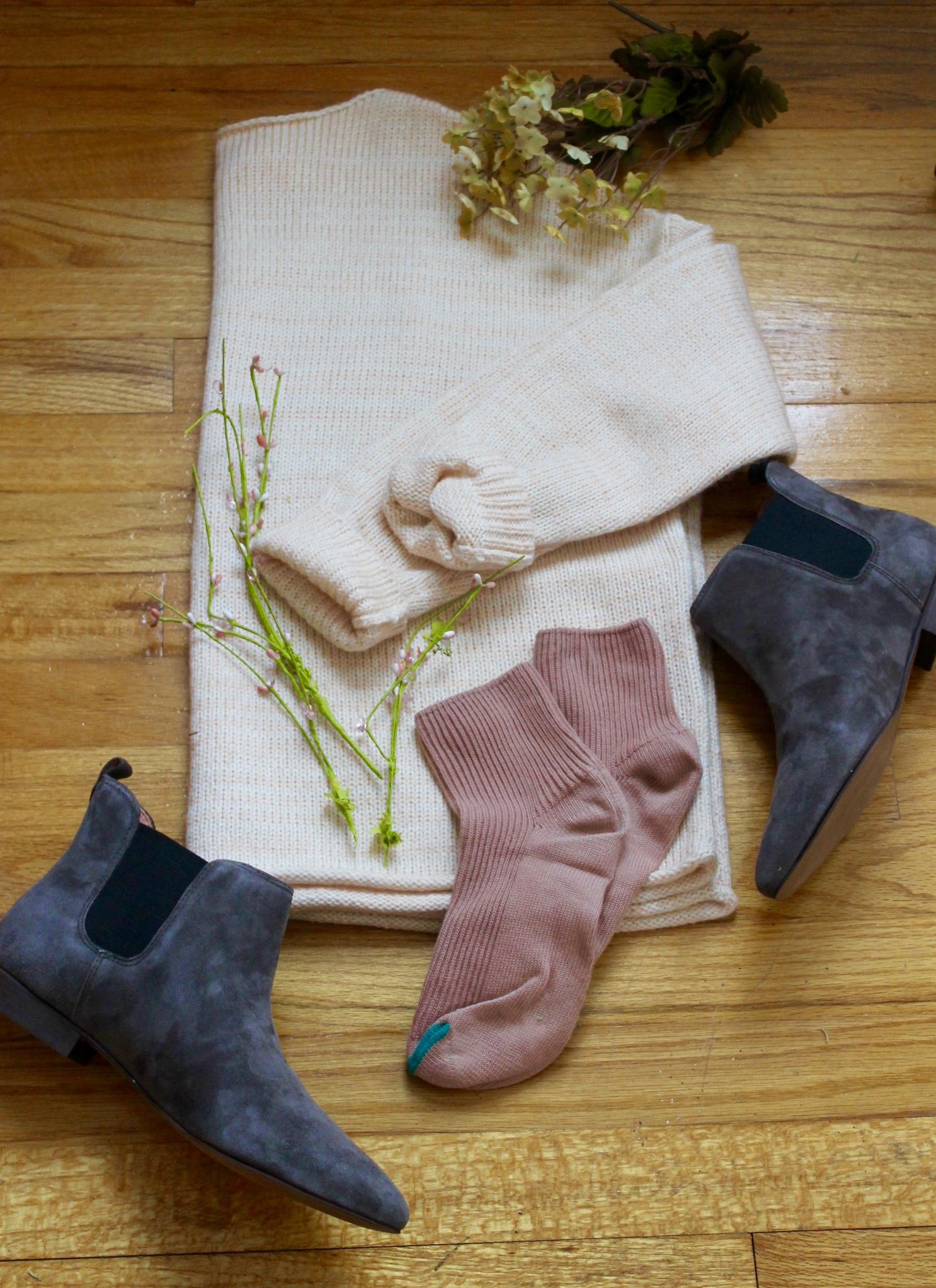 Madewell Threadmix Sweater/ Nico Boot