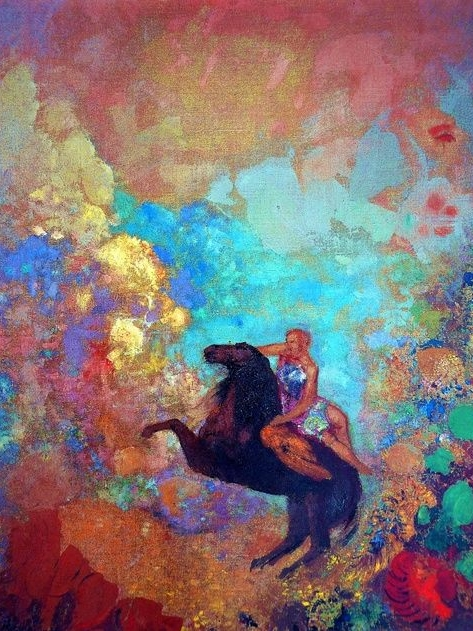 Odilon Redon, Muse Auf Pegasus, 1900