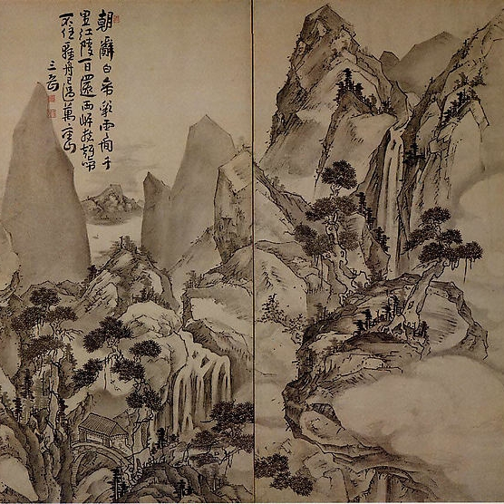 After Ike Taiga, Landscape After Li Bo's Poem, 1615-1868