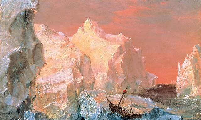Frederic Edwin Church, Icebergs and Wreck in Sunset, 1860