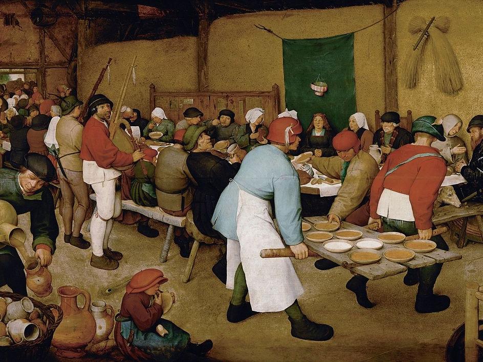 Pieter Bruegel the Elder, The Peasant Wedding, 1566-69