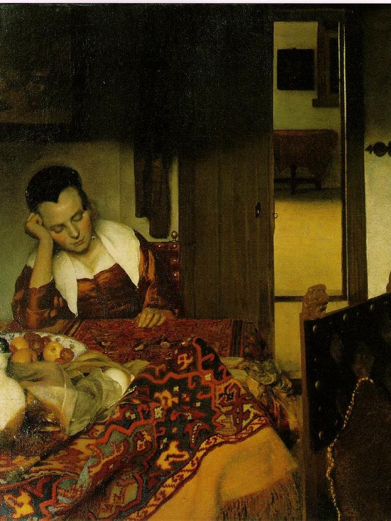 Johannes Vermeer, A Woman Asleep at a Table, 1657