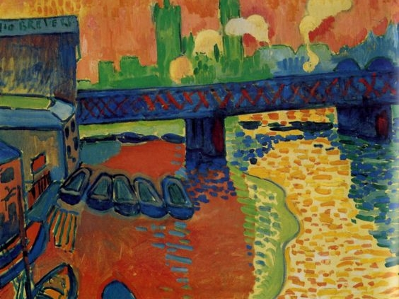 Andre Derain, Hungerford Bridge at Charing Cross, 1906-7