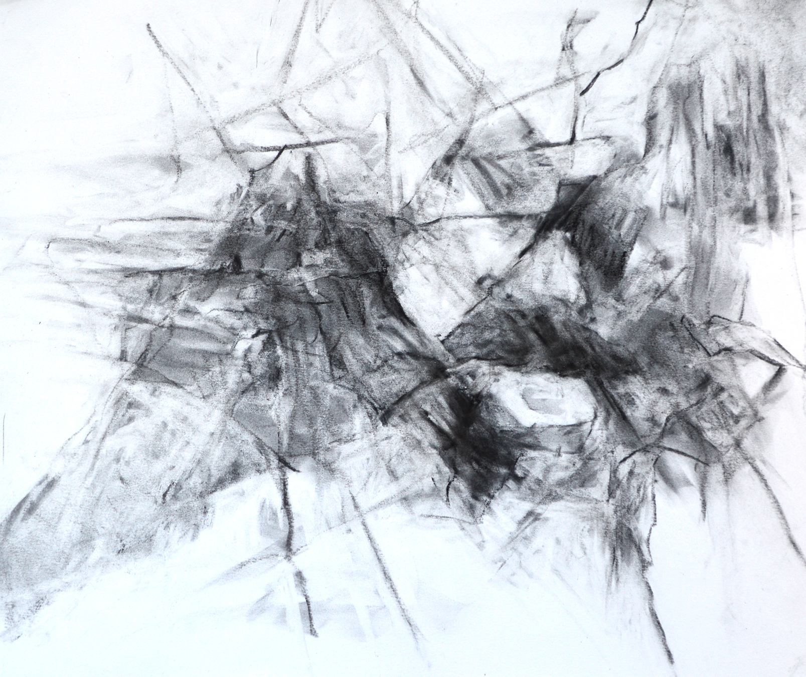 Abstract drawing made from multiple elements of landscape...