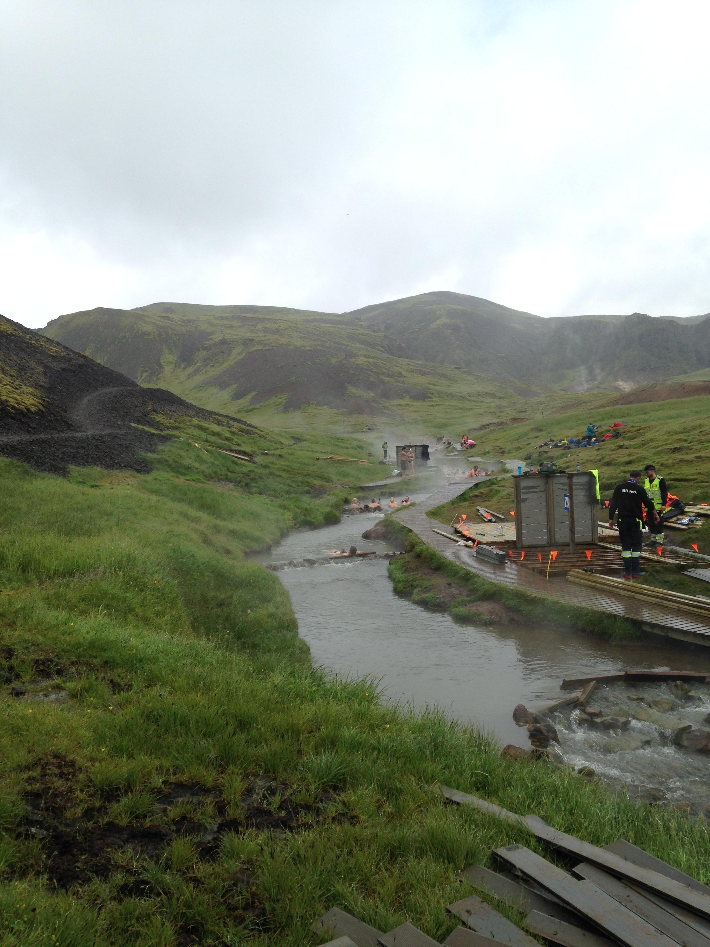 The hot river in Hveragerði