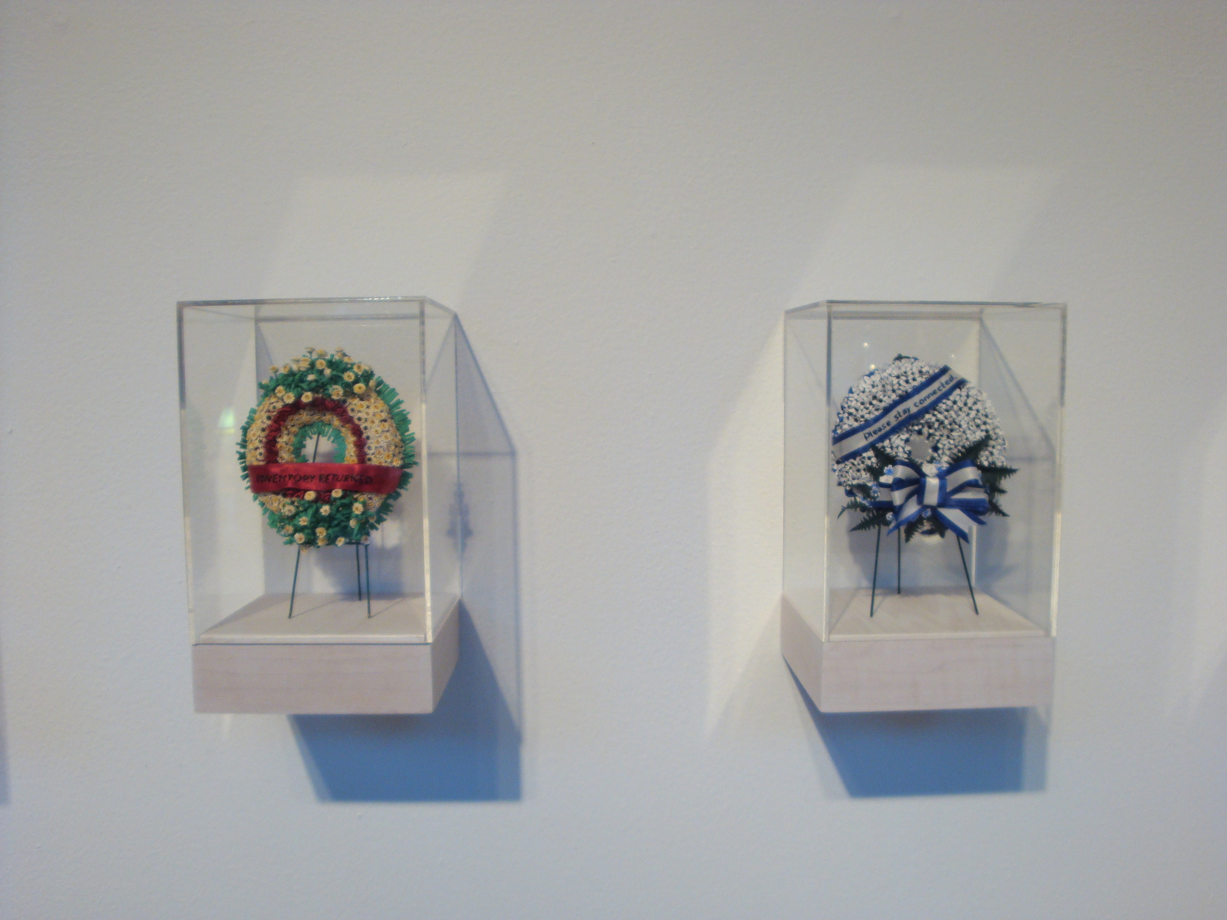 Rejection Wreaths (installation view)