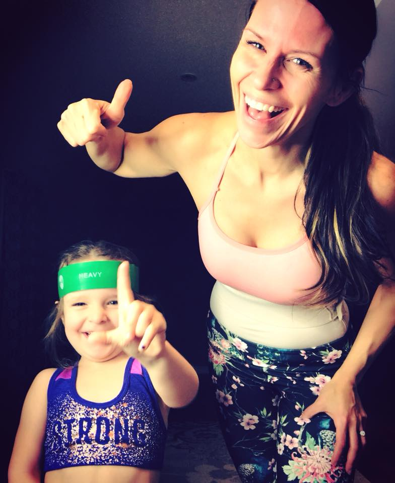 """""""MOMMY.. You can exercise now.. I'm going to get my Brawls on"""" (aka bra).. Gosh I love her so much!"""