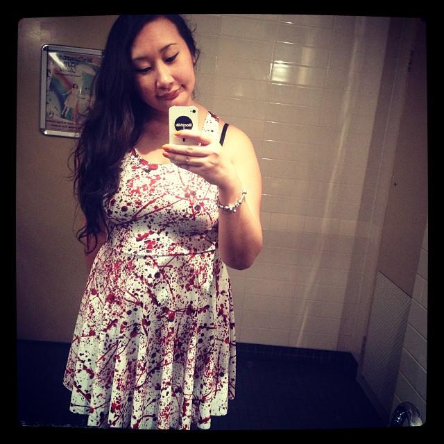Blood Splatter dress selfie
