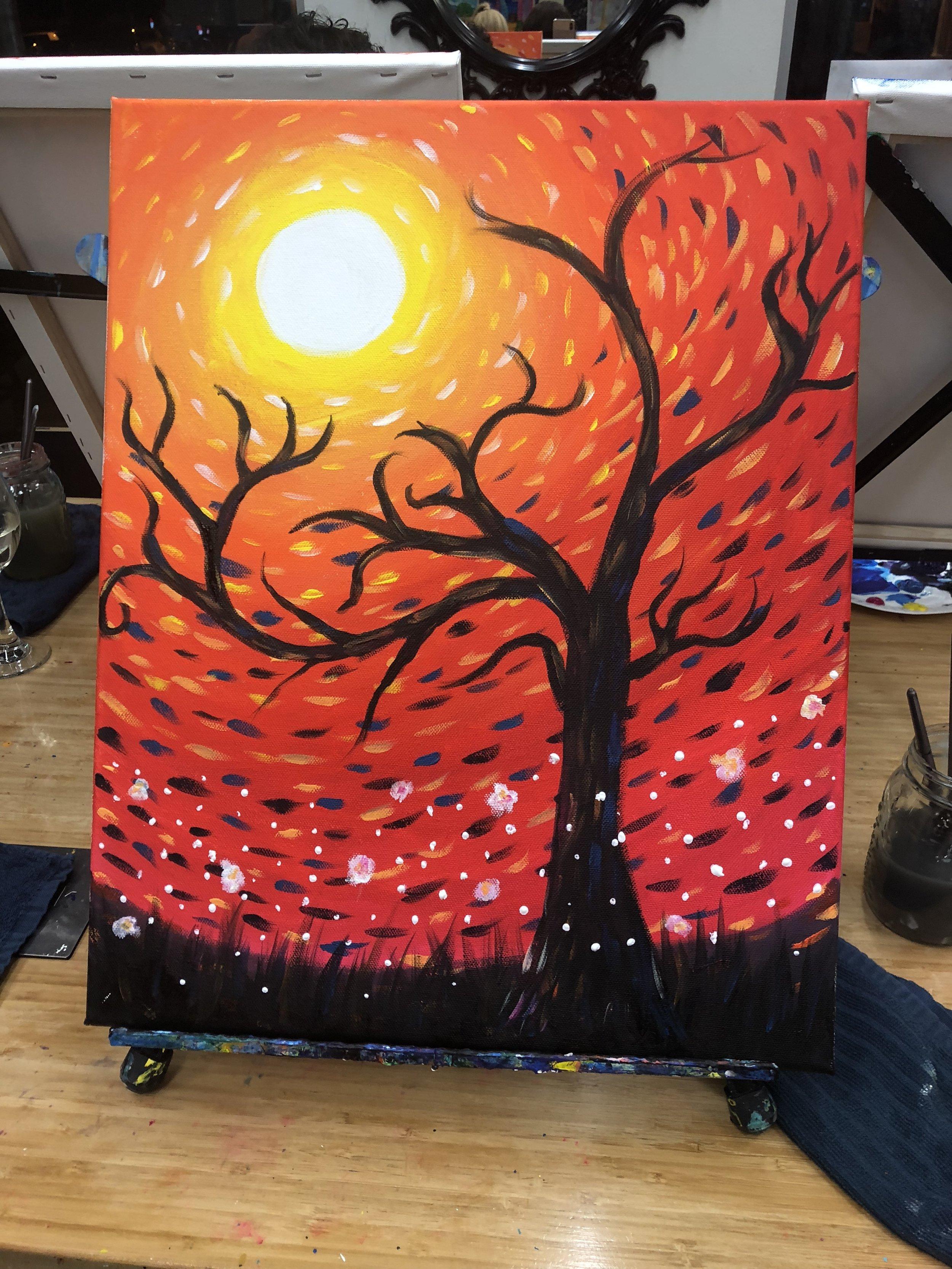 Summer Moon Painting