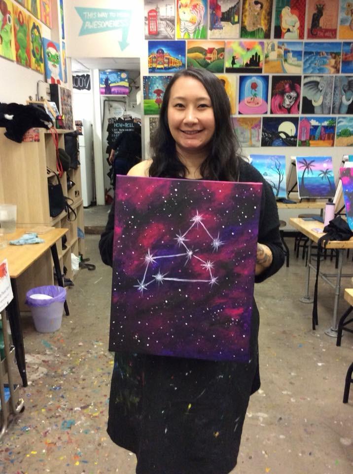 Galaxy Print Painting
