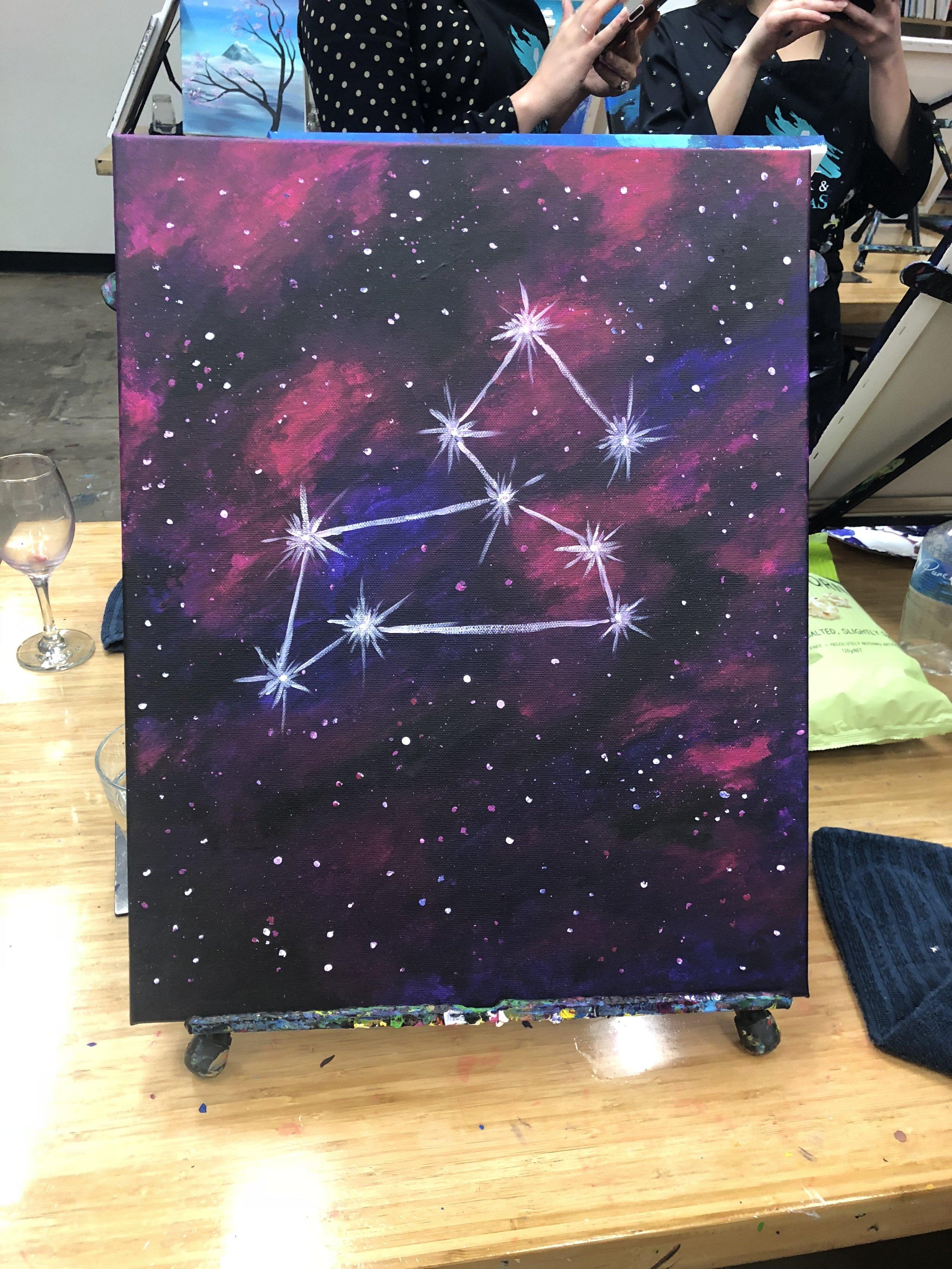 Galaxy Purple Painting