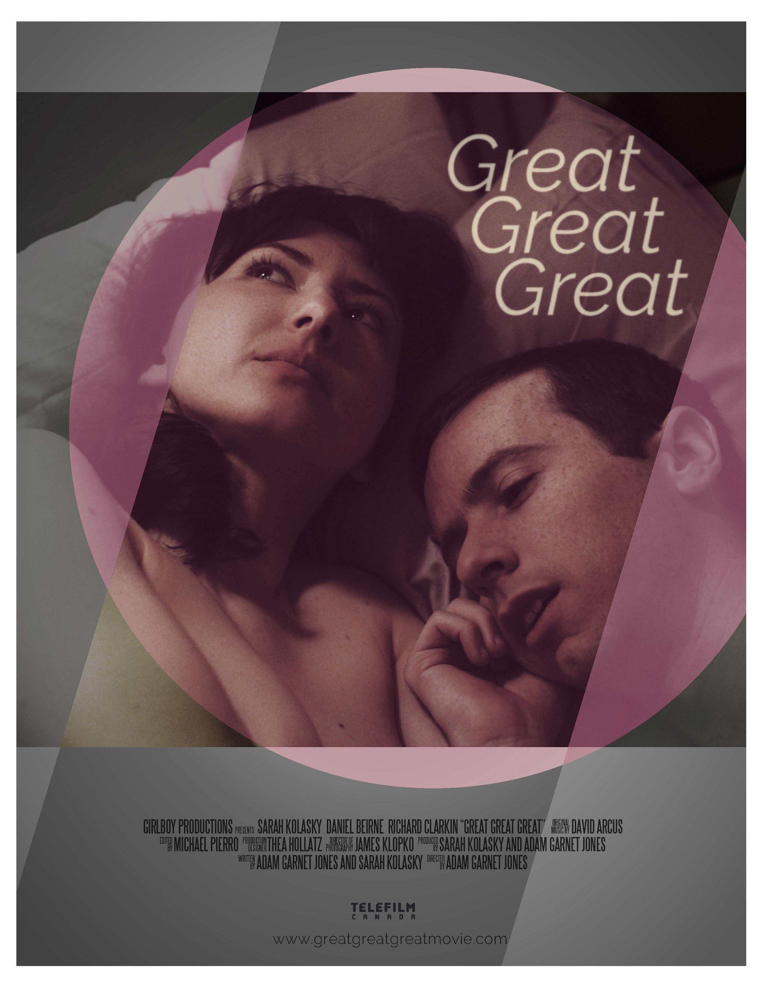 Sarah Kolasky, Adam Garnet Jones, Great Great Great, Dan Beirne, Official poster