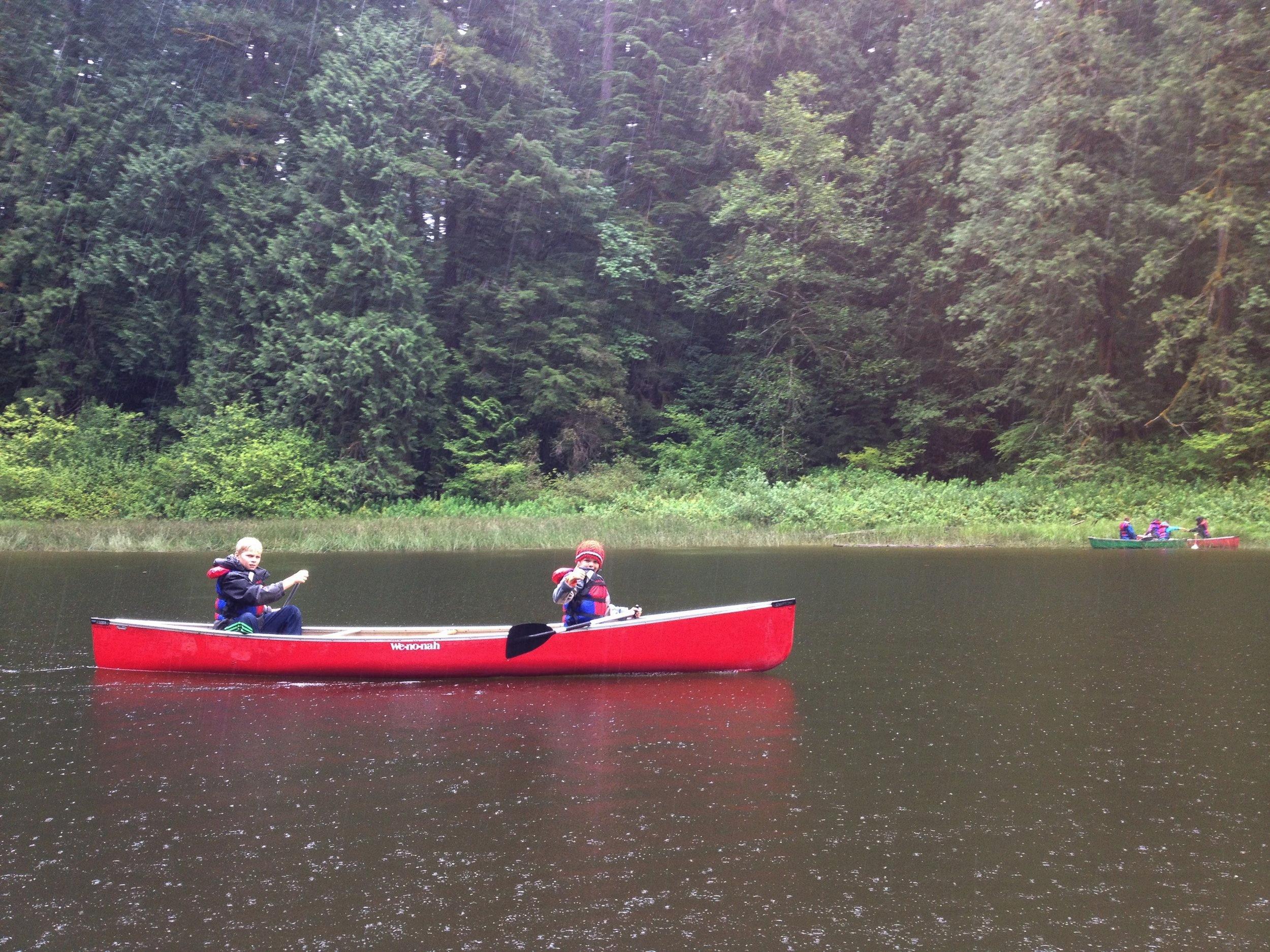 Canoeing at Frog Lake.