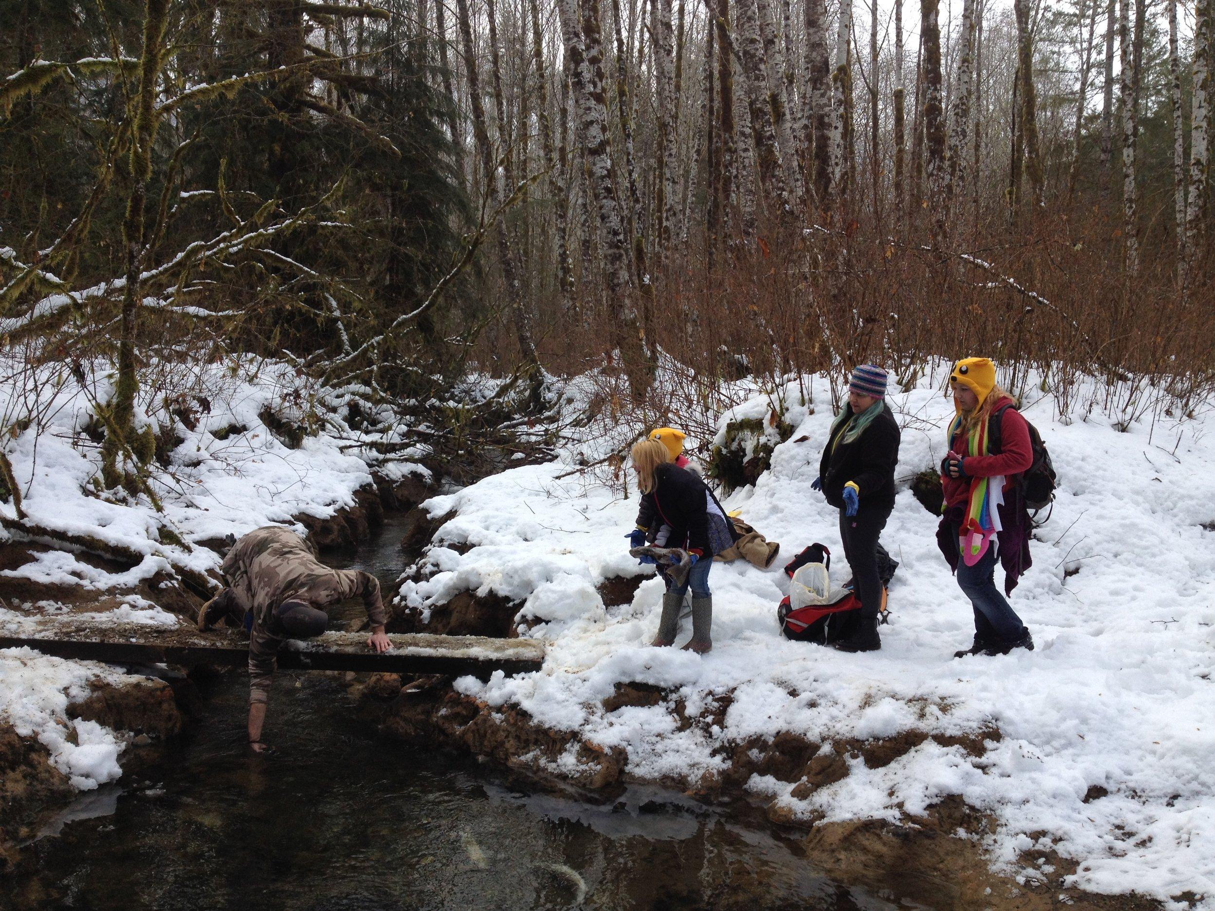 Exploring Ashton Creek.