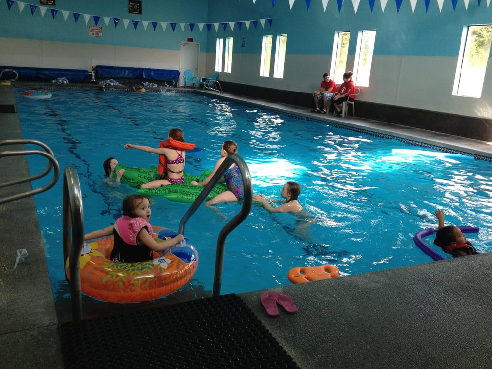 Swimming at the SAC pool.
