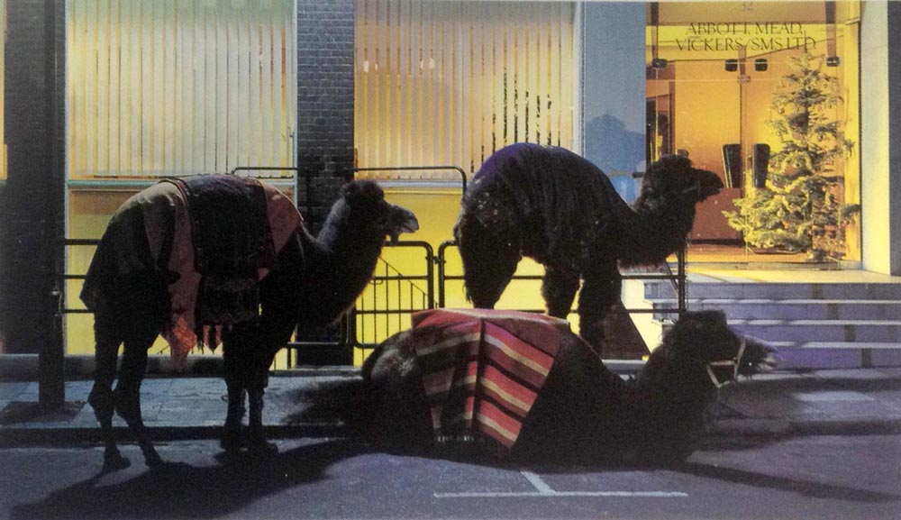 Riderless camels at   Abbott Mead Vickers  suggest the identity of the three wise men