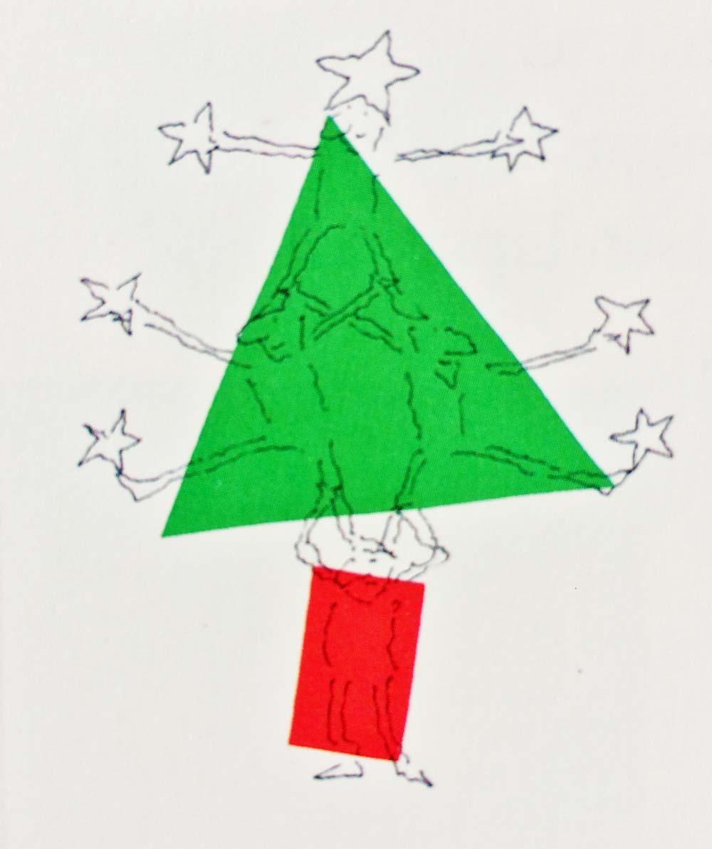 An acrobatic xmas tree –   R.O. Blechman   1990