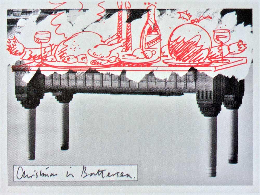 A Christmas spread courtesy of Battersea Power Station –  Smith & Milton  1980