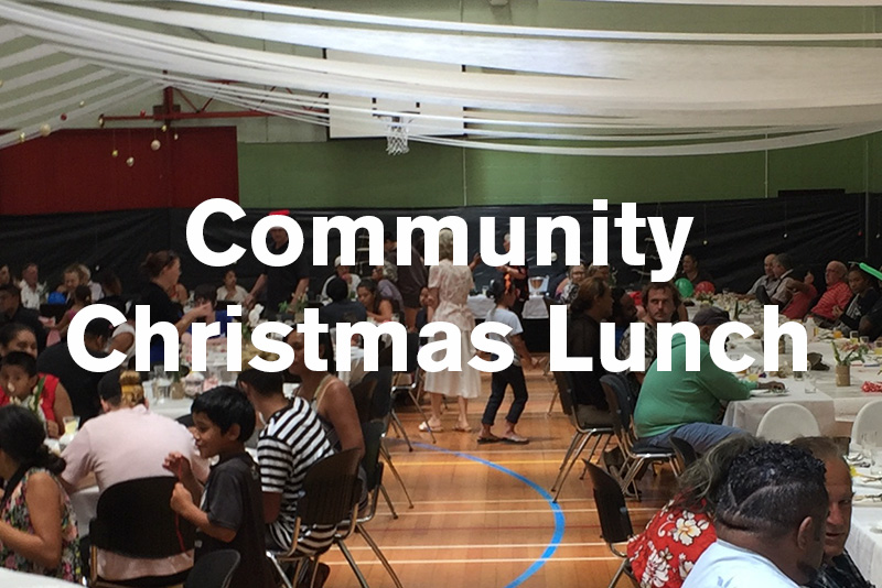 Community CHristmas Lunch - COMMUNITY CHRISTMAS LUNCHEvery Christmas, people from Curate Whakatane partner with local organisations, businesses and individuals, to organise, prepare and serve a delicious three course meal for hundreds of people in our community. Our goal is to give every person the best Christmas they've ever had! It is always a special time of building hope, togetherness and beautiful relationships.Get involved:- Join the team to organise the event- Help with set up on 23/24 December- Help on the day 25 December- Make a financial donation- Fundraise/apply for grants