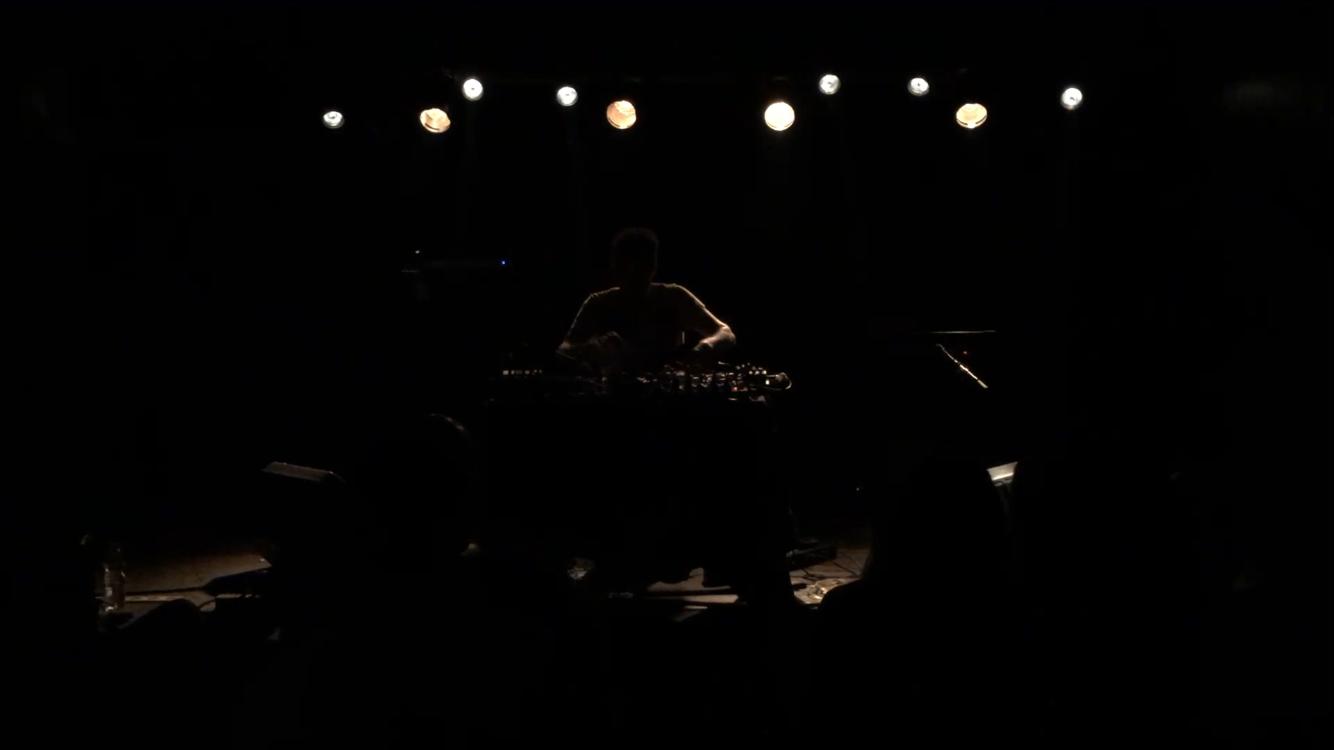Oren Ambarchi performing at Levontin 7 (2016) Photo: Daniel Arom