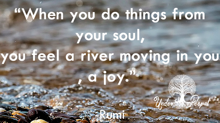 When you do things from your soul, you feel a river moving in you, a joy- Rumi quote