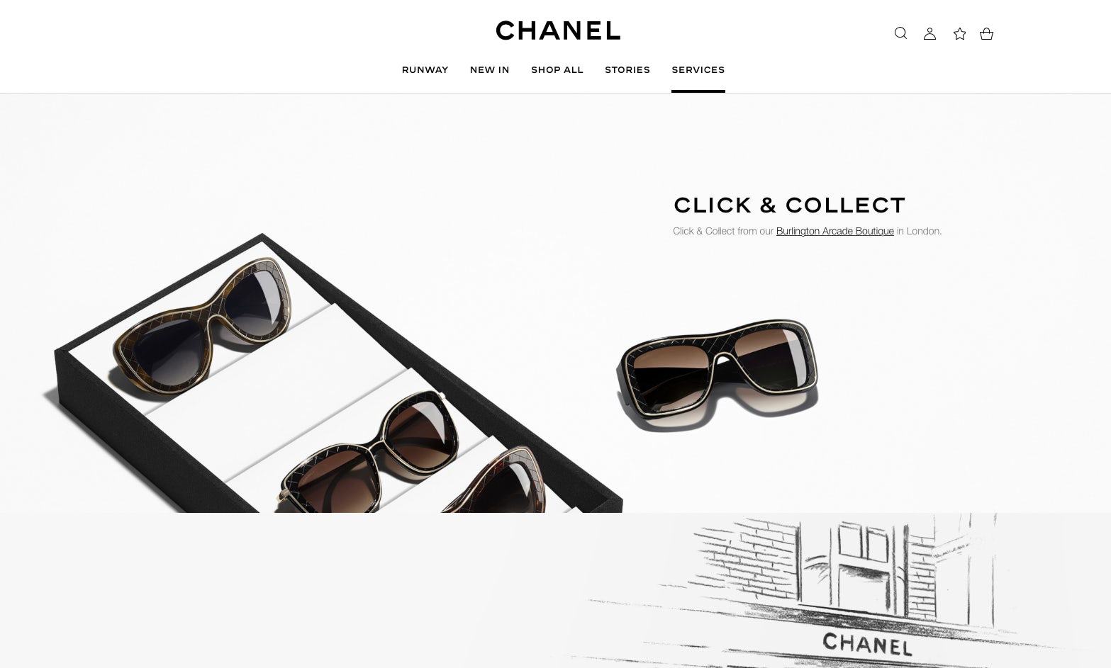 Chanel - Click & Collect Strategy (on a limited selection of items)