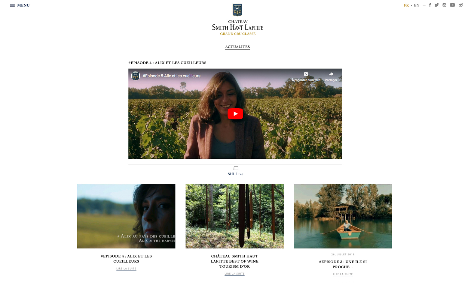 Chateau Smith Haut Lafitte - Video Content Strategy