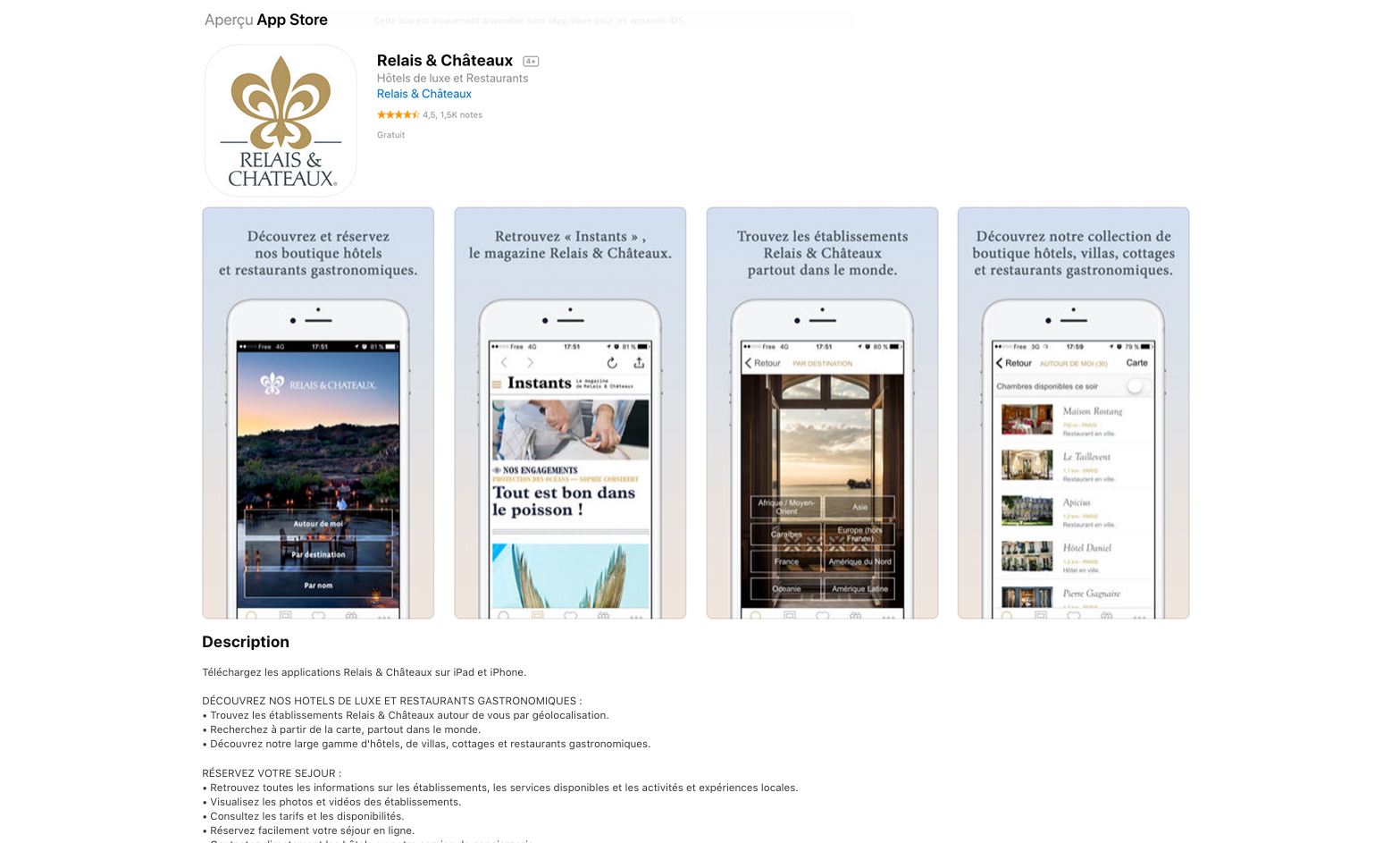 Relais & Châteaux - Discovery & Booking App